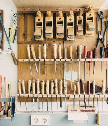 narzędzia do warsztatu w zestawie